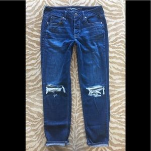 American Eagle TOMGIRL Distressed Denim Jean 8Long
